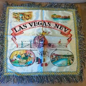 Vintage Las Vegas Satin Pillow Case